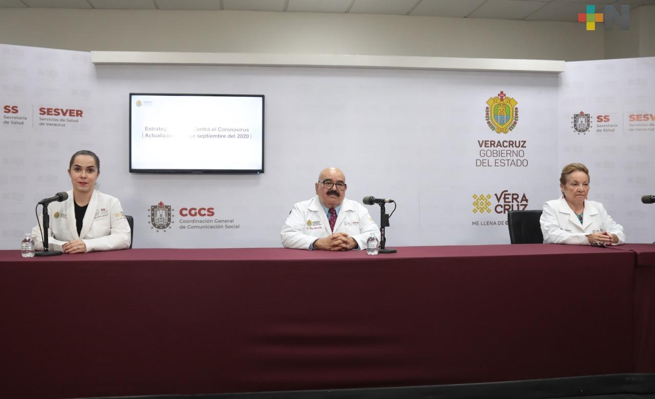 Hay 185 casos nuevos de Covid-19 en Veracruz