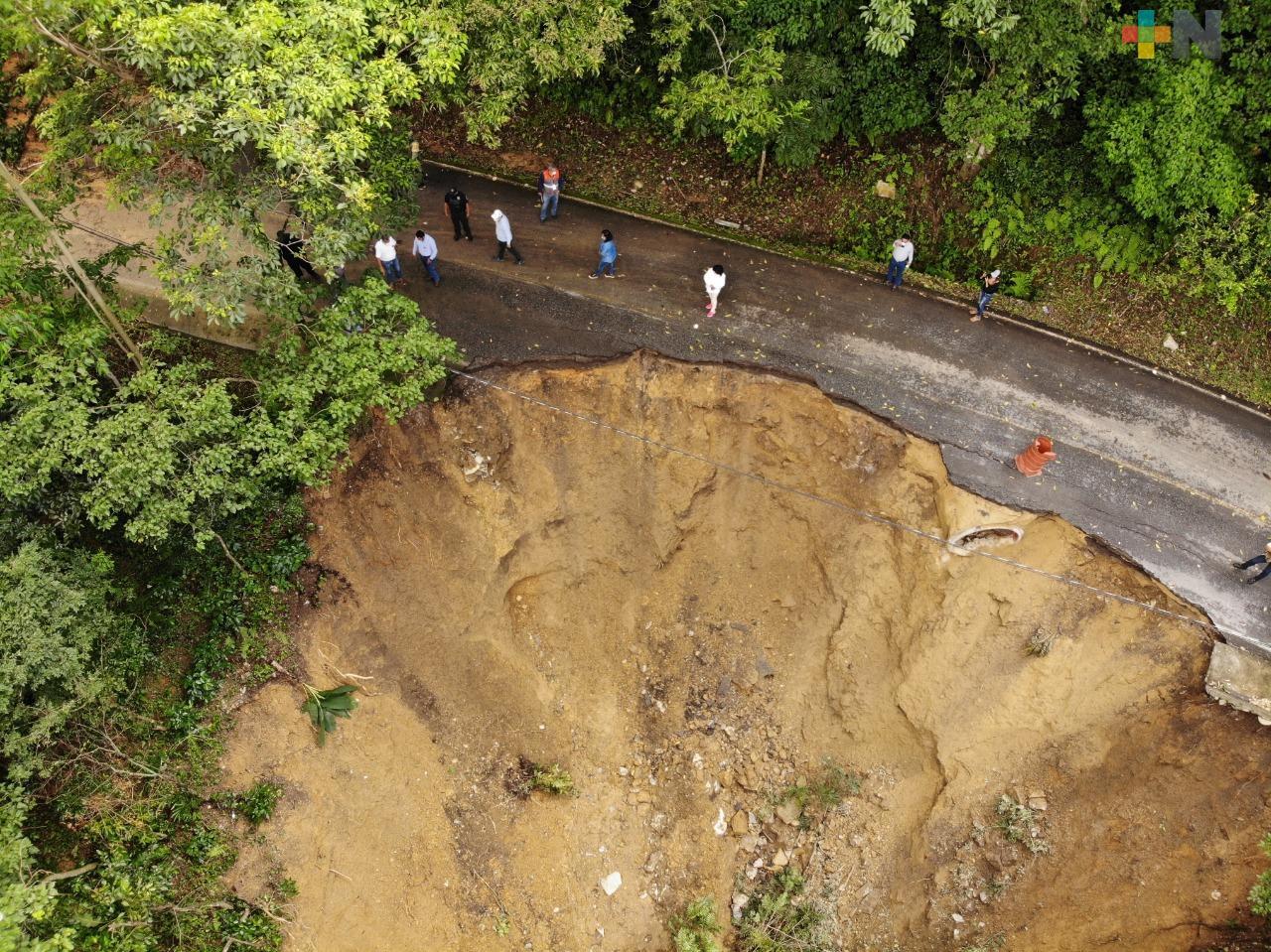 Evalúa PC daños en carreteras de Ixtaczoquitlán