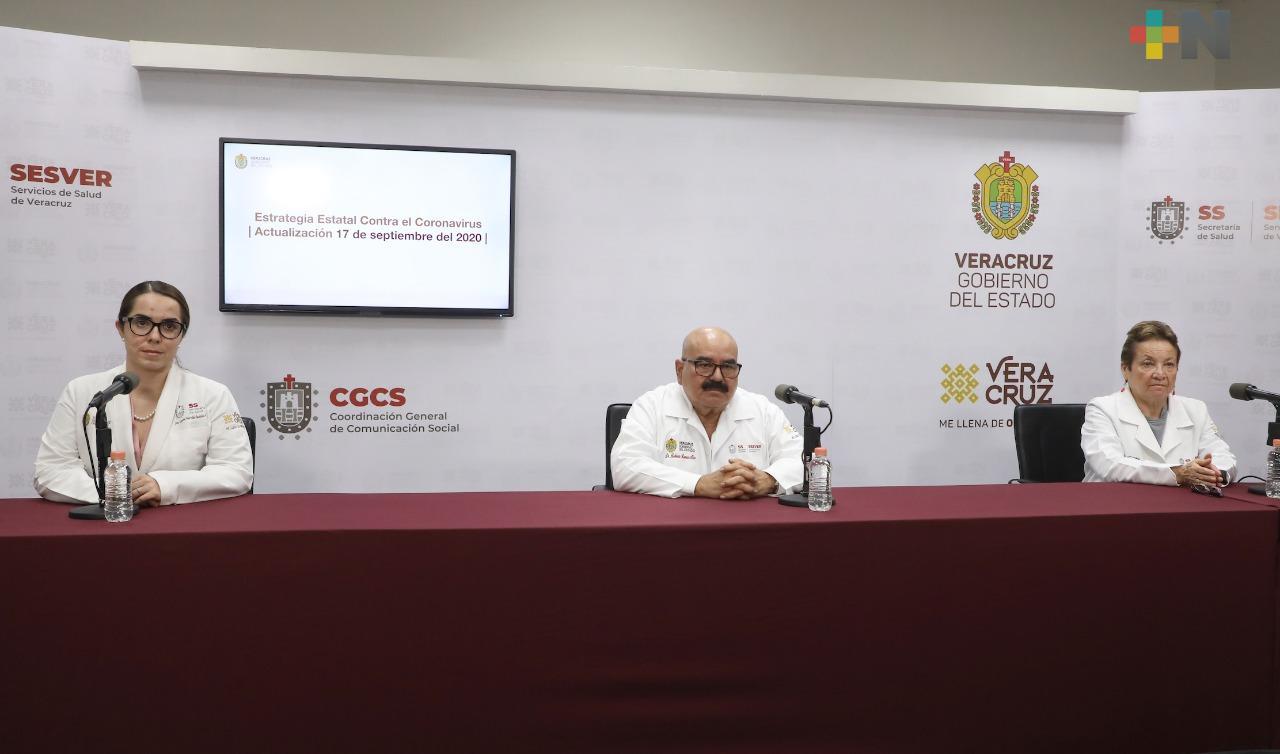 Acumula Veracruz 31 mil 379 casos de Covid-19