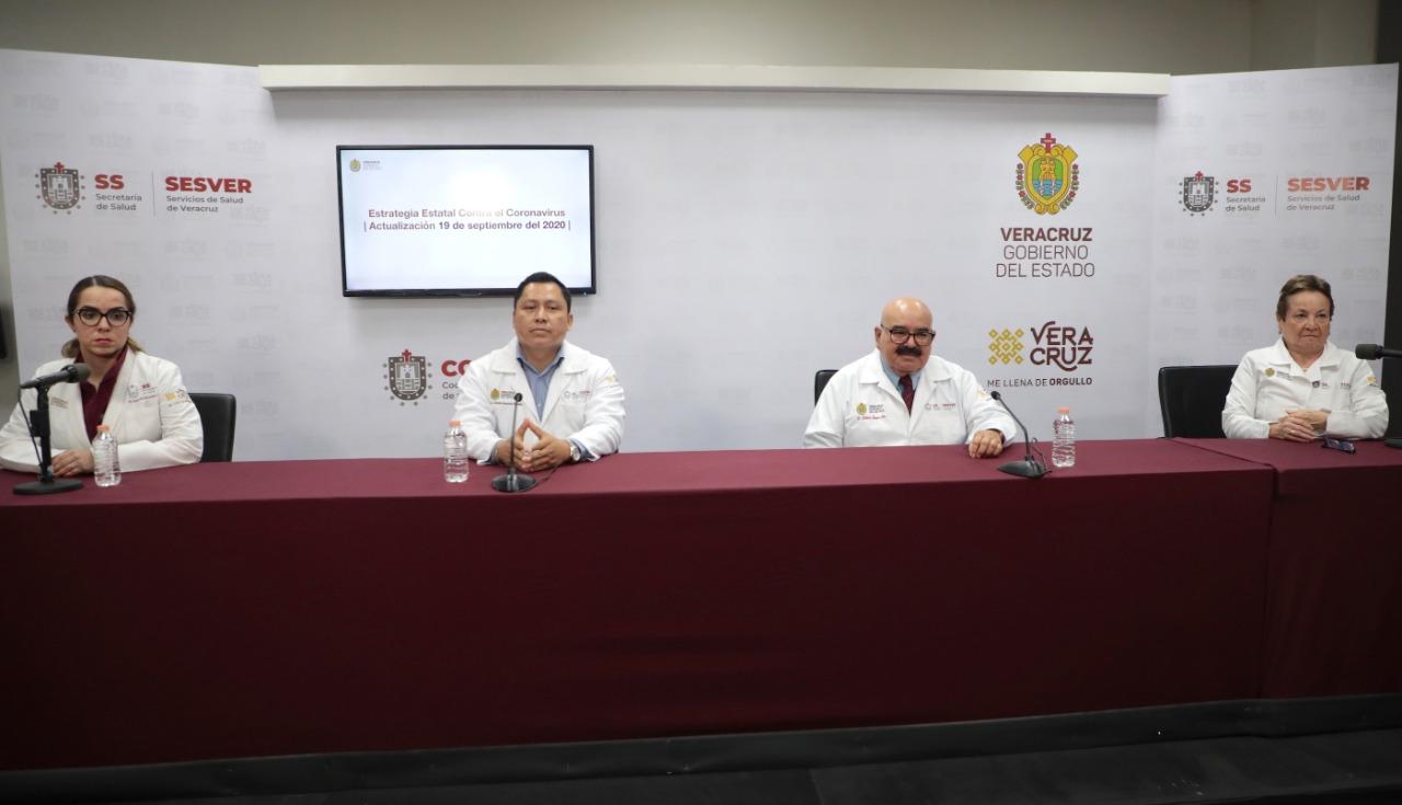 Reporta Salud 123 casos nuevos de Covid-19 en Veracruz