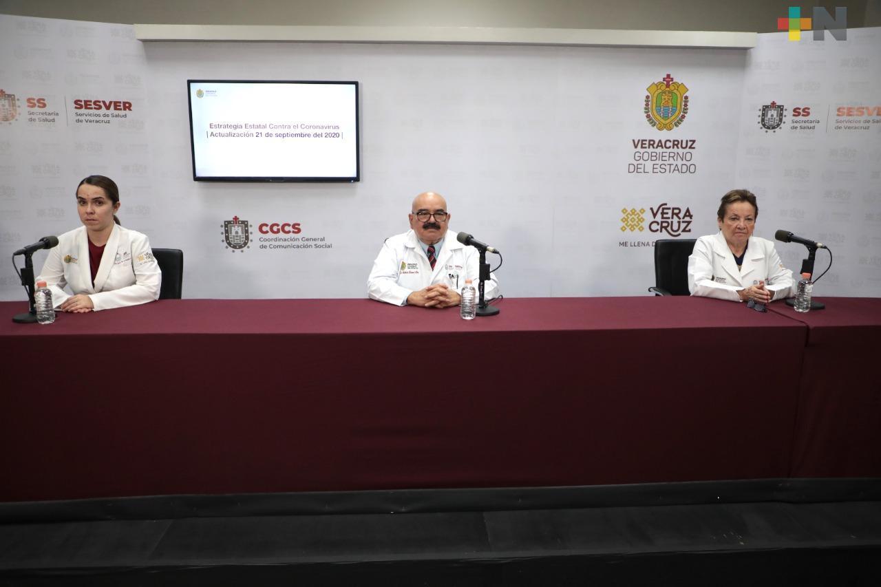 Registra Salud 236 nuevos casos de Covid-19 en Veracruz