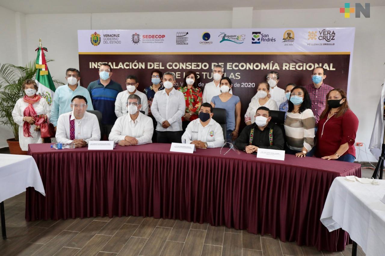 Entregará SEDECOP microcréditos en Los Tuxtlas para reactivar la economía regional