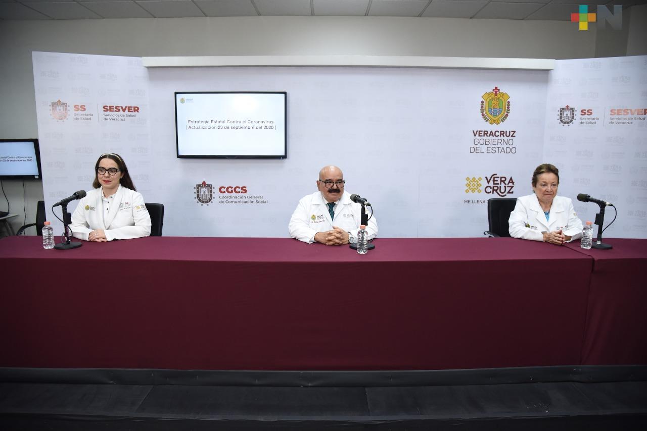 Se registran 88 nuevos casos de Covid-19 en Veracruz