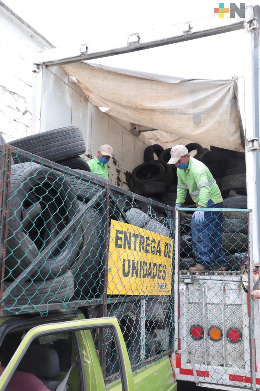 """Con primeras 10 toneladas de neumáticos para reciclaje, arranca SEDEMA """"Llantatón 2020"""""""