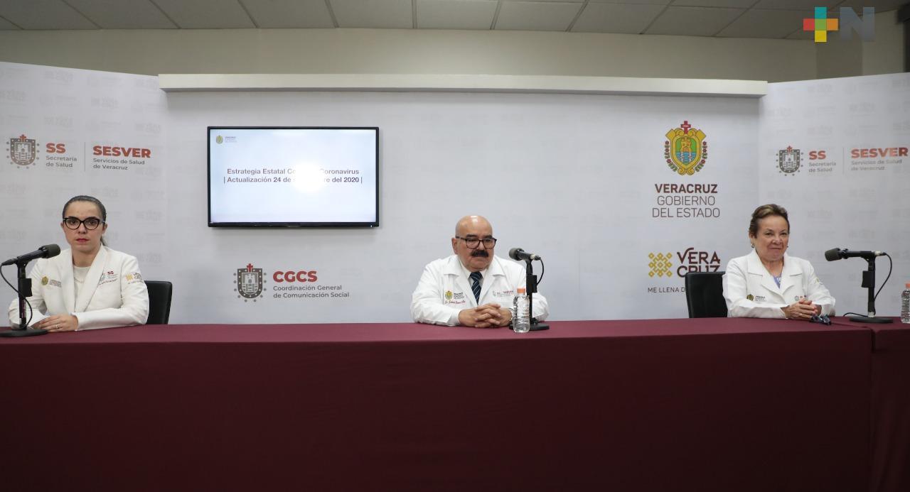 Registra Salud 128 casos nuevos de Covid-19 en Veracruz