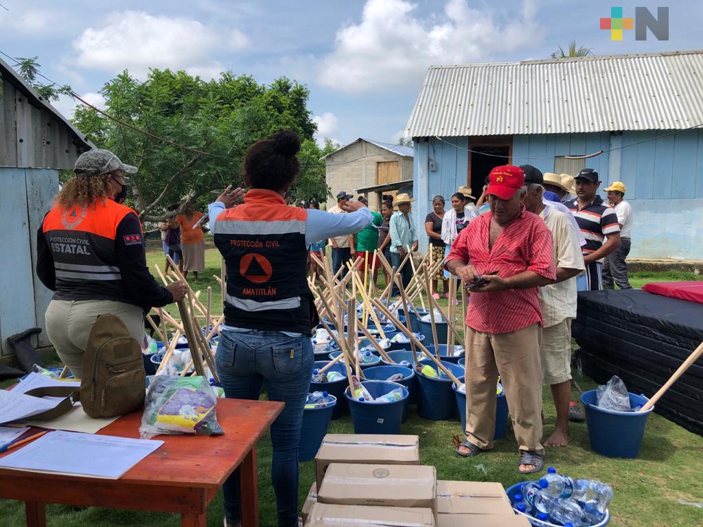 Supervisa PC entrega de apoyos FONDEN a población de la Cuenca del Papaloapan