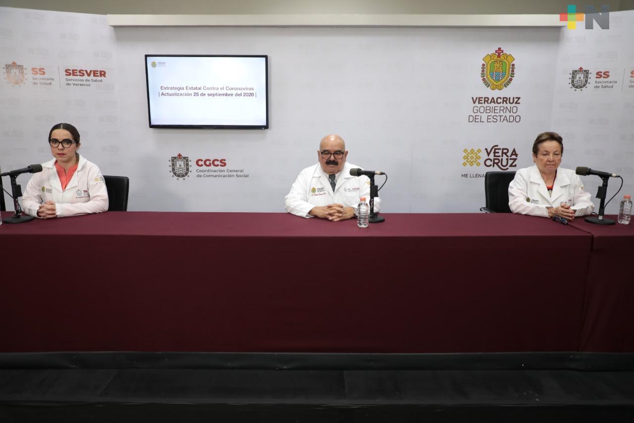 Registra Salud 273 casos nuevos de Covid-19 en Veracruz