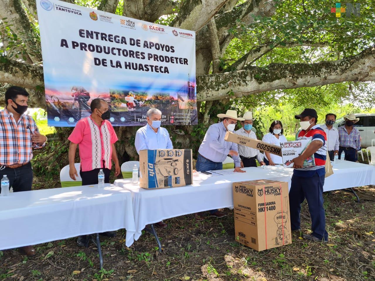Con una inversión de 5 mdp Gobierno y productores impulsan la región Huasteca