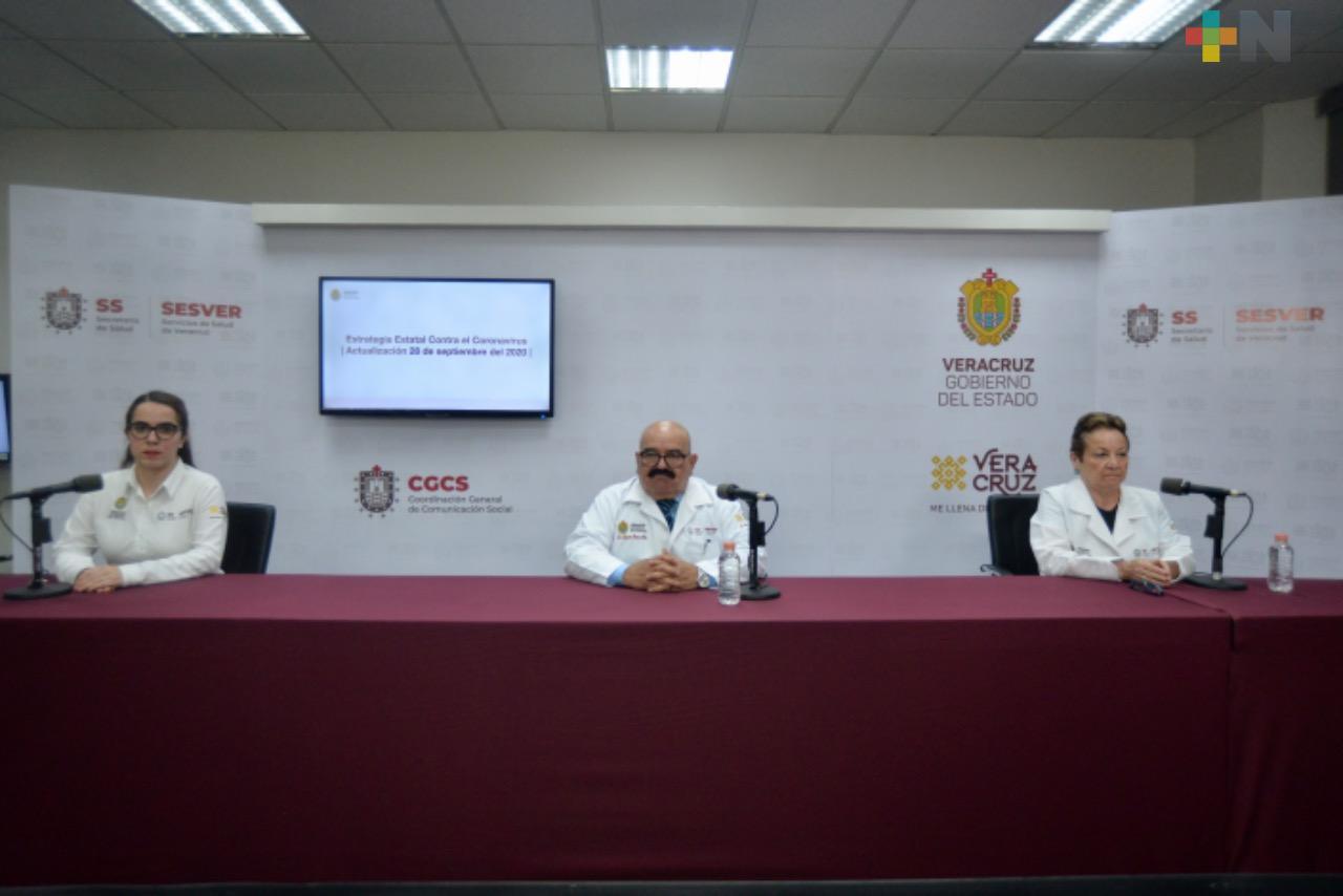 Se registran 154 casos nuevos de Covid-19 en Veracruz