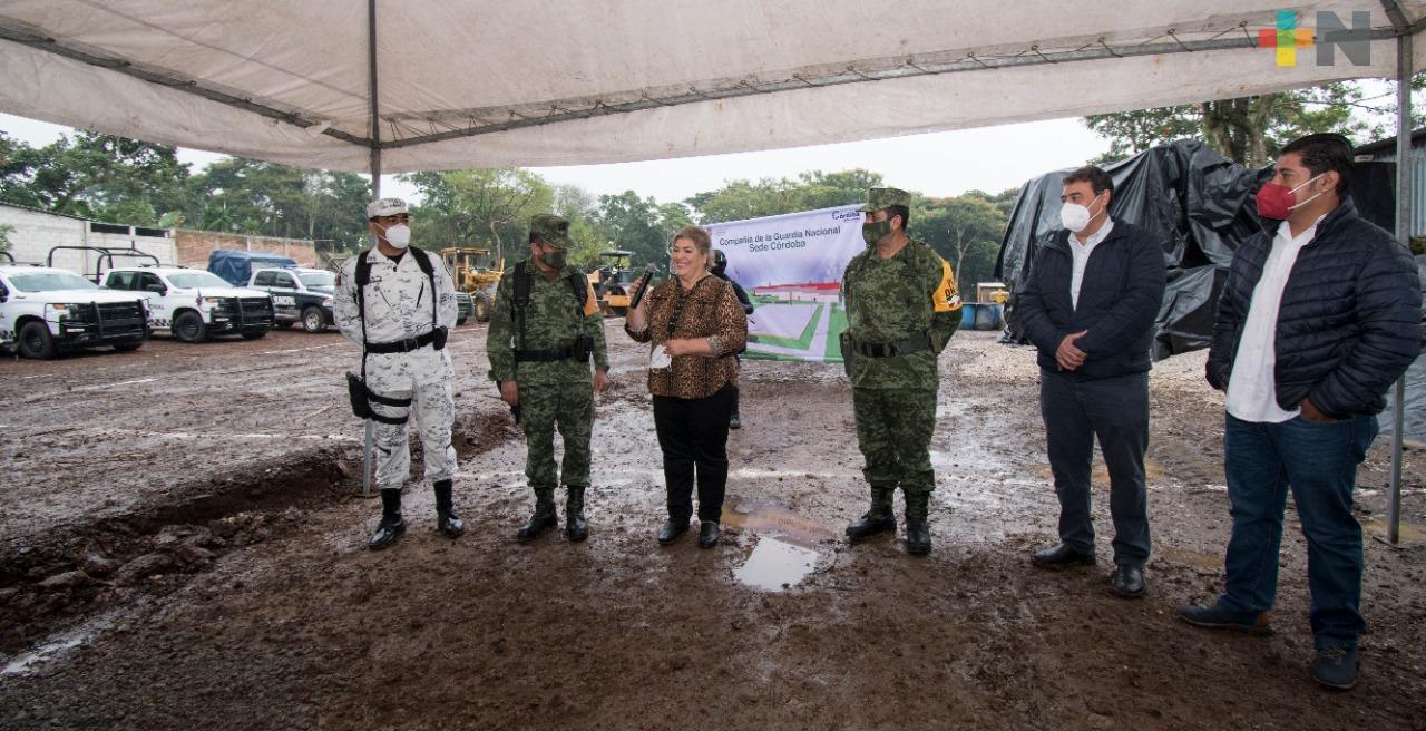 Inició la construcción del cuartel de la Guardia Nacional en Córdoba