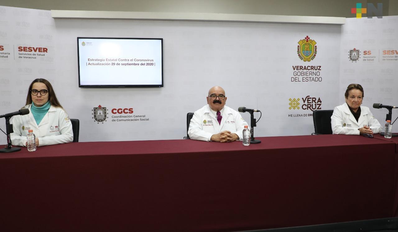 Registran 211 nuevos casos de Covid-19 en Veracruz