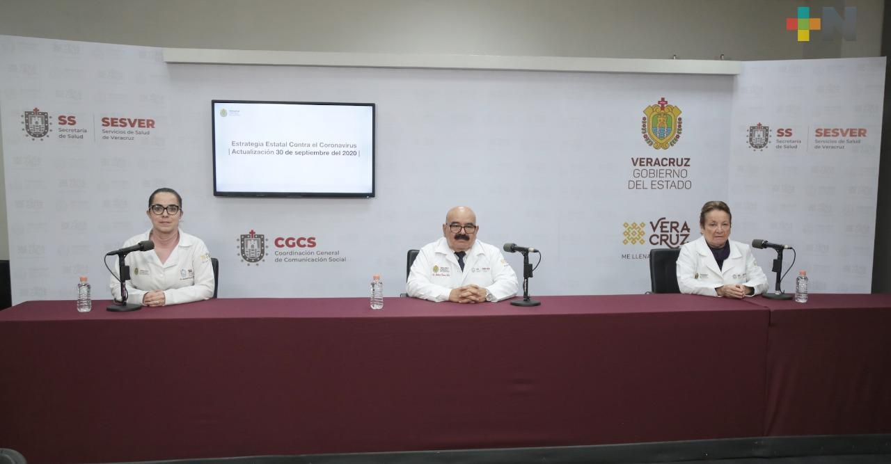 Se registran 58 casos nuevos de Covid-19 en Veracruz