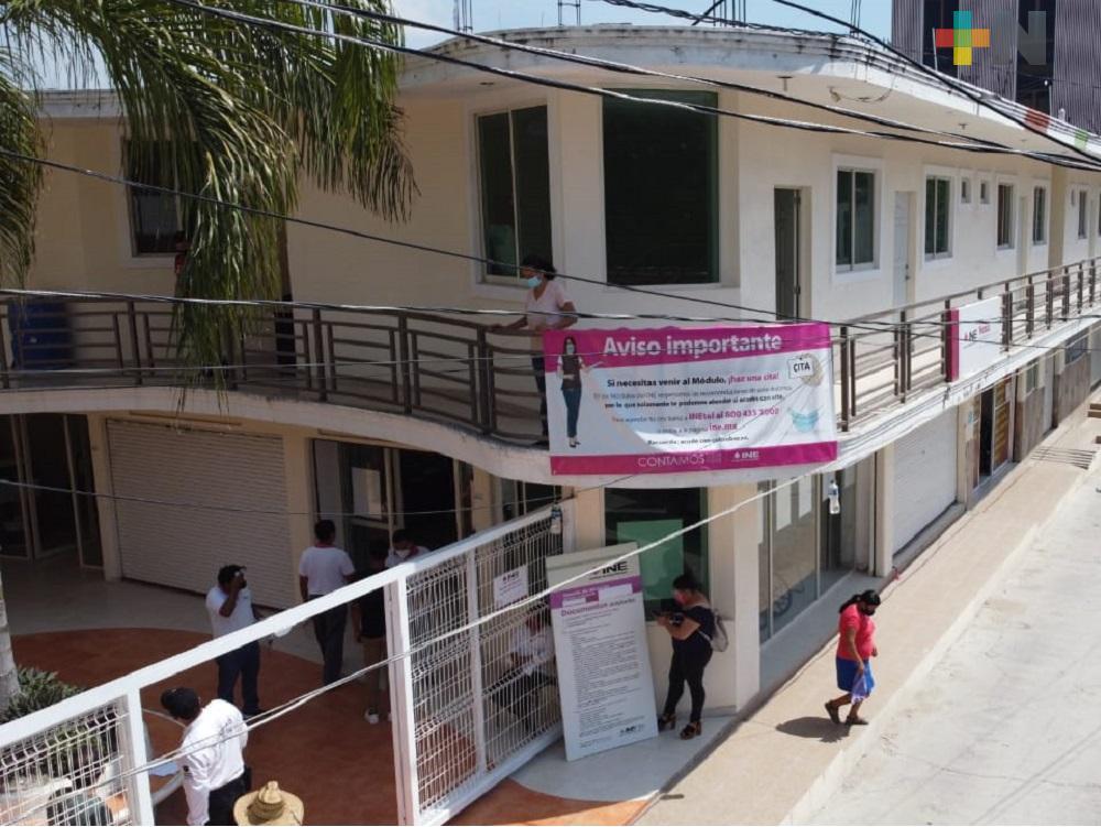 Nuevas oficinas de INE en Tantoyuca, tiene como propósito funcionar como módulo de credencialización