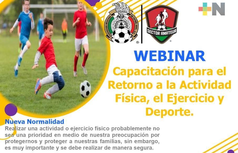 Asociación de Futbol Estatal anuncia webinar, capacitación virtual