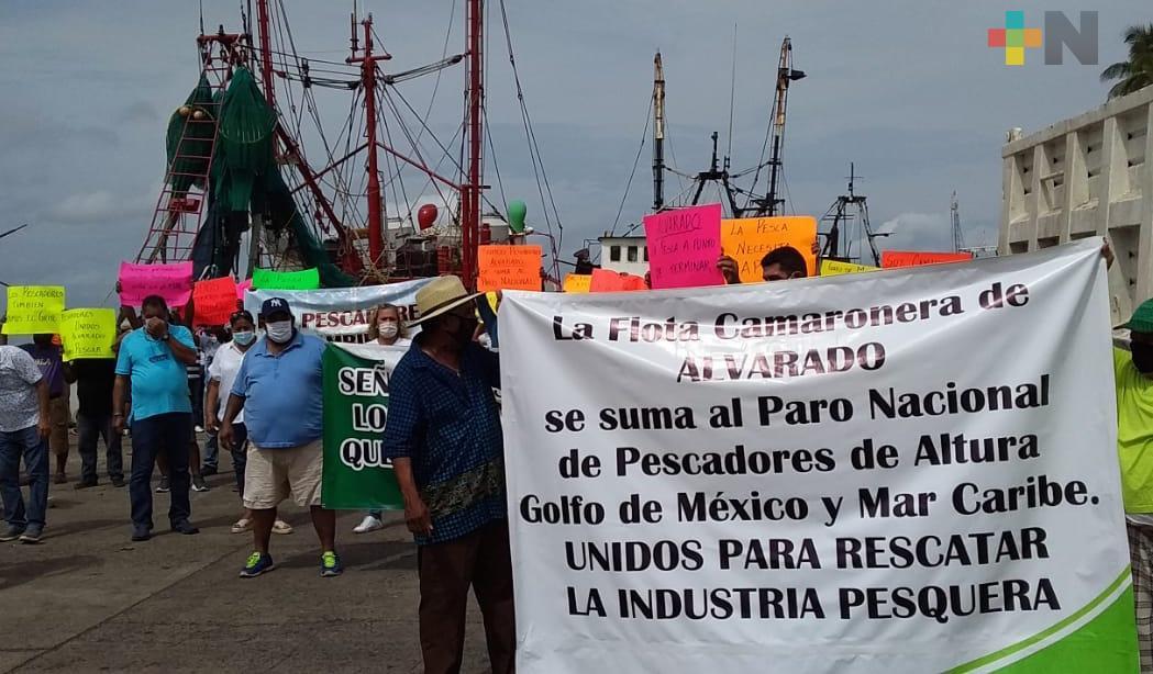 Pescadores de Alvarado se unieron a paro nacional, protestan por precio de combustible