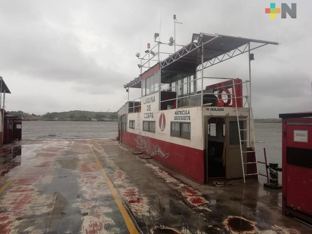 Por ingreso de Frente Frío 4 suspenden servicio fluvial de lanchas y transbordadores en Coatzacoalcos y Villa Allende