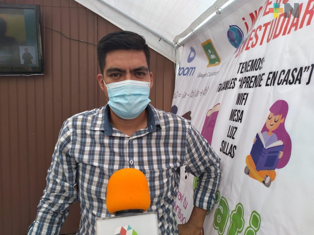 Sociedad civil organizada instaló escuelita móvil en la ciudad de Veracruz