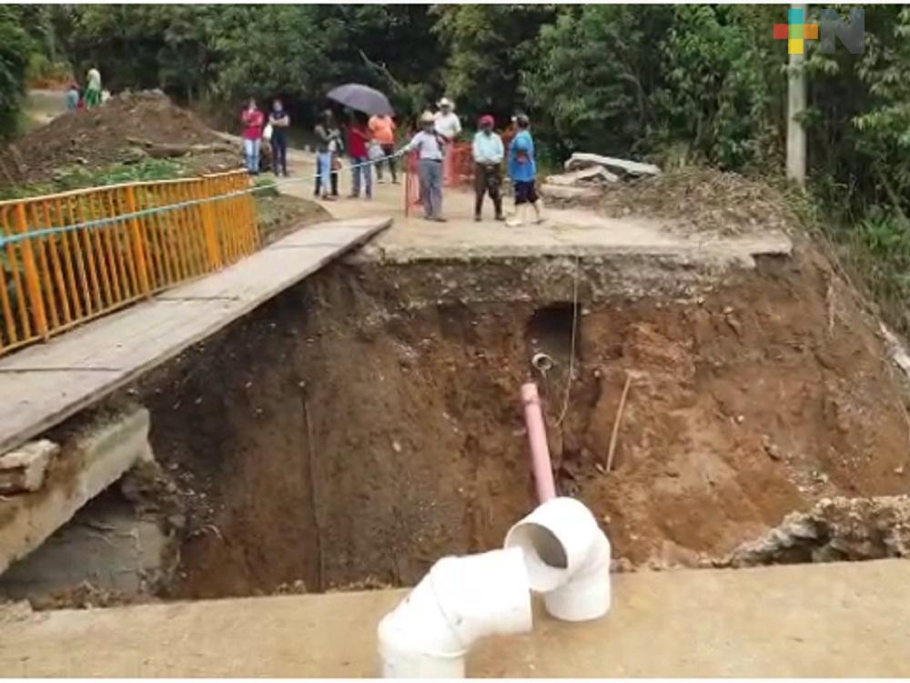 SIOP realizará trabajos de rehabilitación de puente de Chacapala dañado por lluvias