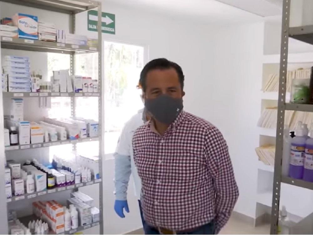 Verifica gobernador  rehabilitación y operación del Centro de Salud de la localidad Joachín, en Tierra Blanca