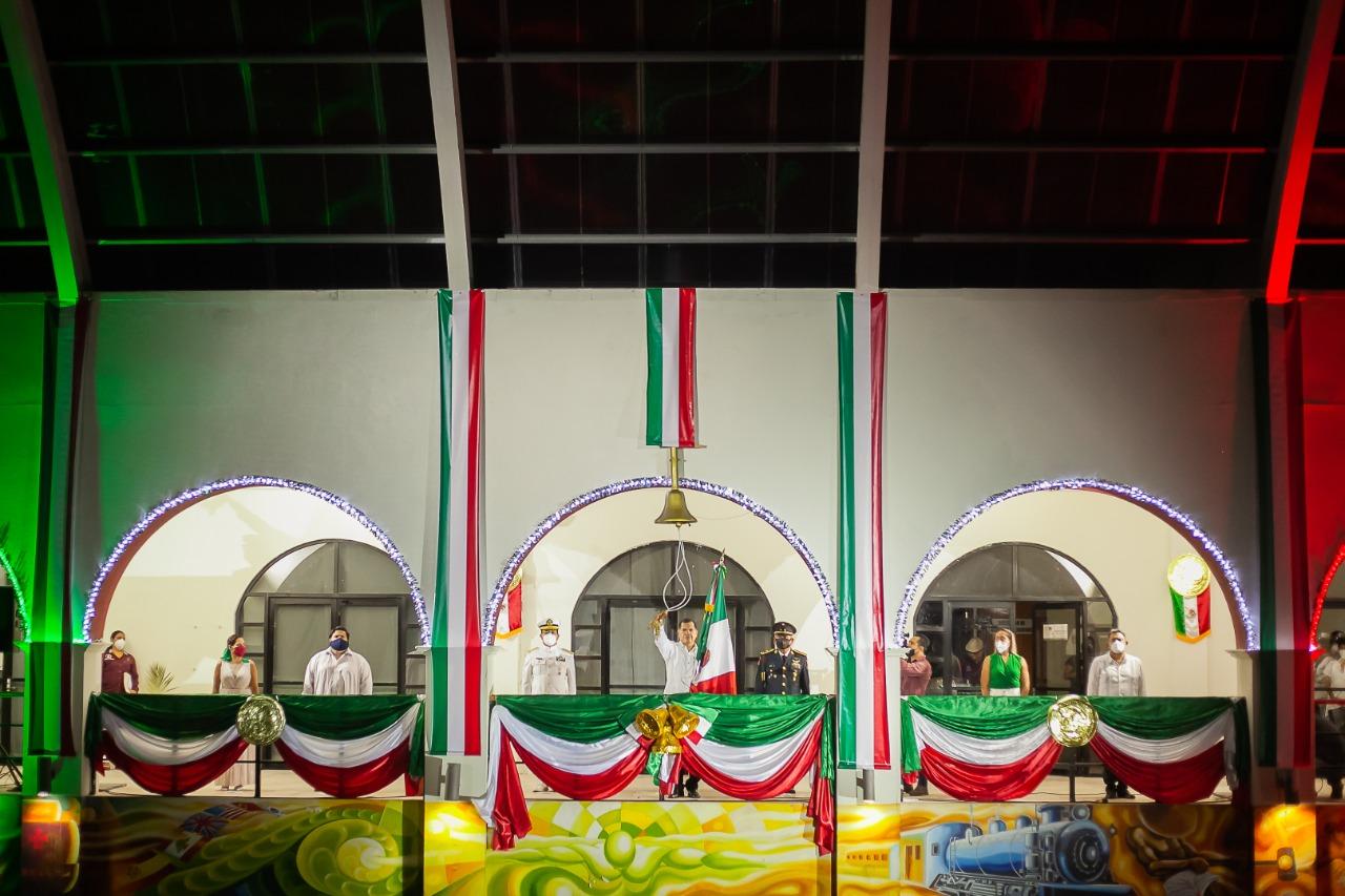En forma virtual celebraron Grito de Independencia en el sur de Veracruz