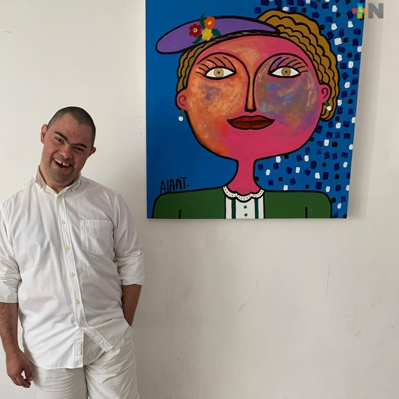 El artista plástico Alan Téllez mantiene activos sus proyectos