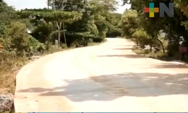 Concluye primera etapa de pavimentación del camino Tilapan-La Redonda del municipio de San Andrés Tuxtla