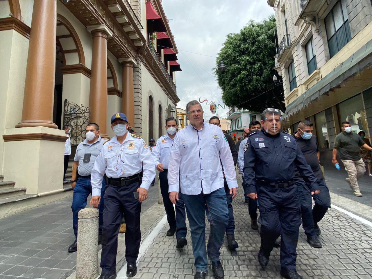 Supervisó Gutiérrez Maldonado operativo de seguridad y vialidad por fiestas patrias, en Xalapa