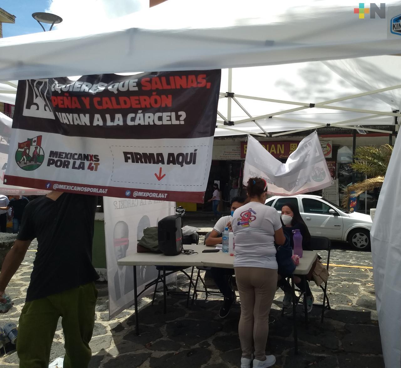 Veracruz supera la meta de firmas para la solicitud de la consulta ciudadana sobre el juicio contra expresidentes