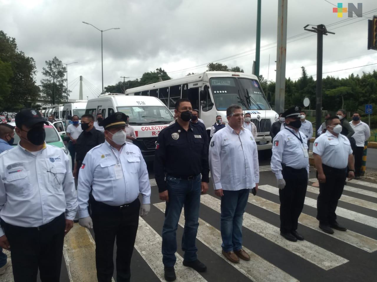 Más de 123 mil unidades de transporte público desinfectadas en 112 municipios: SSP