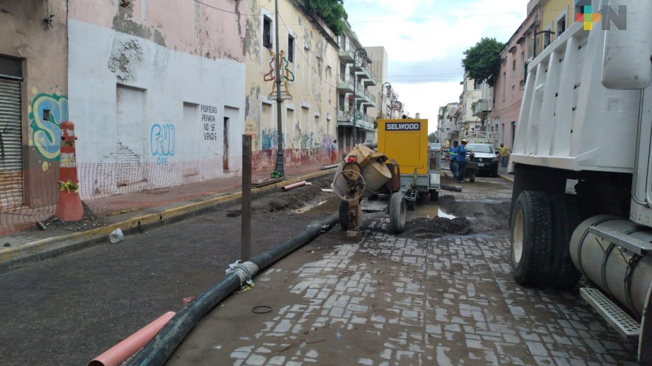 Continúan obras de Grupo MAS sobre avenida Independencia de Veracruz