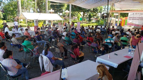 Realizan jornada itinerante de Registro Civil en Teocelo