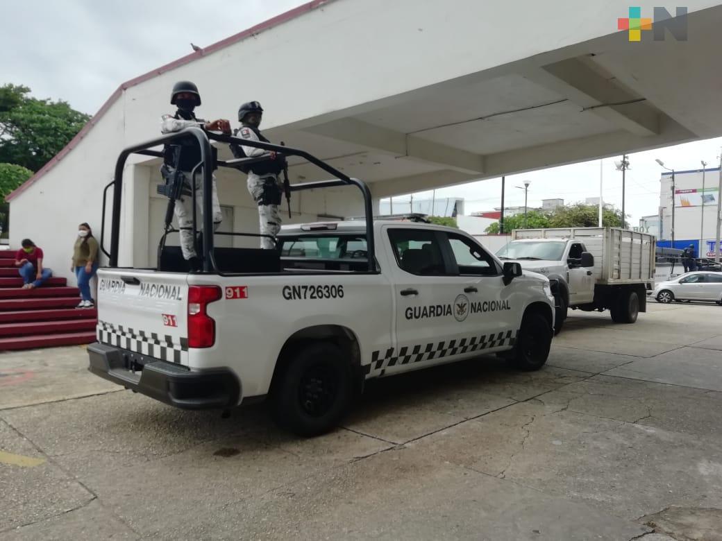 Para reducir robos a comercios, refuerzan vigilancia en centro de Coatzacoalcos