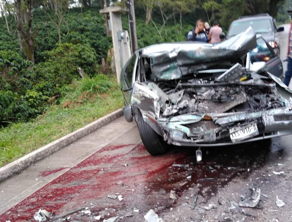 Otra vez: accidente en la carretera Xalapa-Coatepec; un lesionado