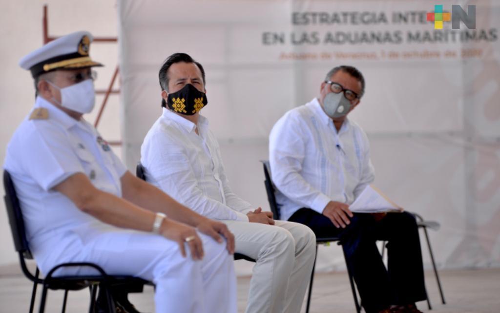 Inició en Veracruz el programa de estrategia integral del combate a la corrupción en las aduanas marítimas del país