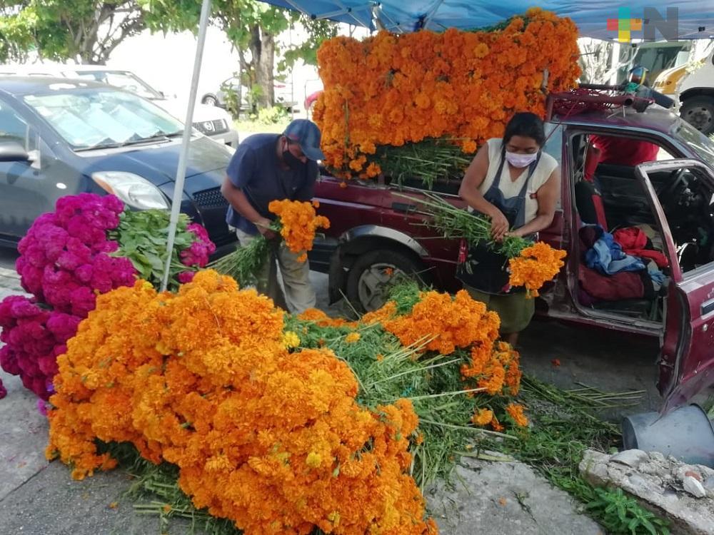 Venta de flor de Cempasúchil no ha sido como se esperaba
