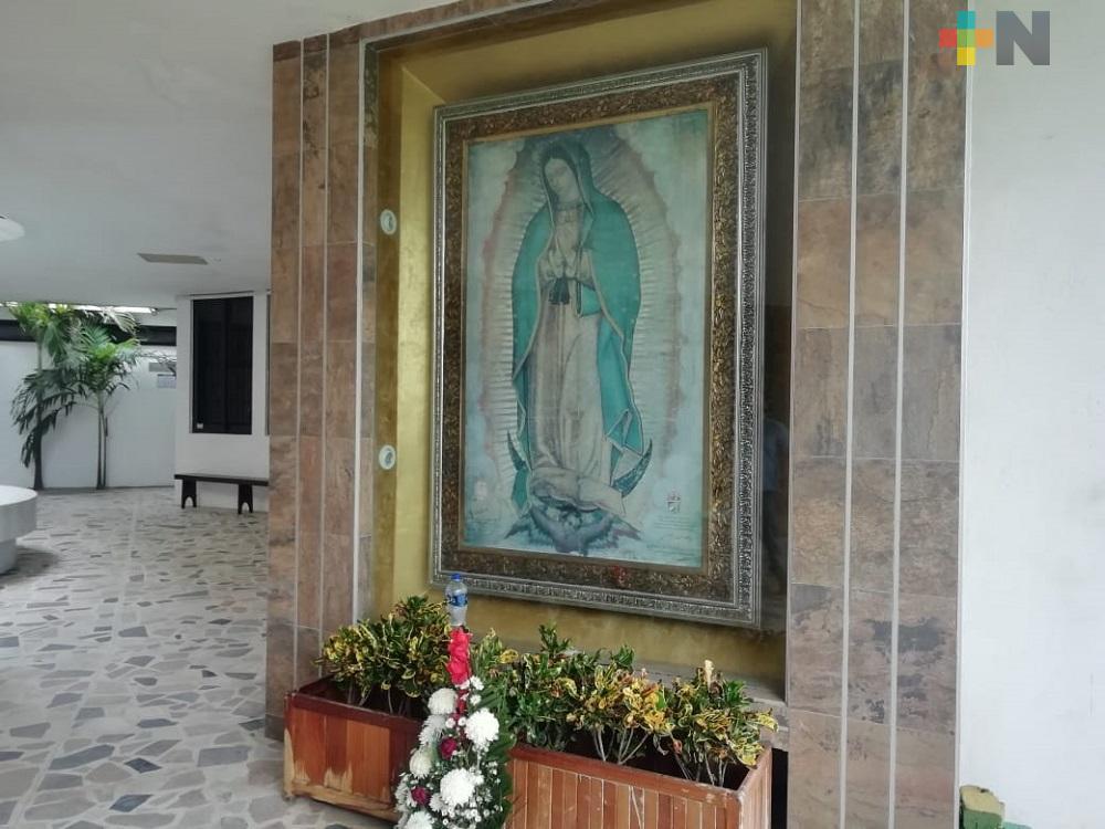 Debido a pandemia,  Santuario de Guadalupe de Coatzacoalcos no recibirá peregrinos