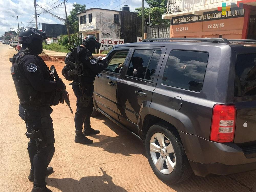 En Coatzacoalcos y Minatitlán, autoridades realizaron Operativo Cero Tolerancia