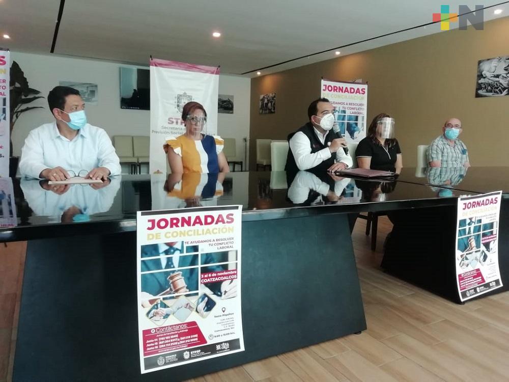 En noviembre realizarán Jornadas de Conciliación Laboral en Coatzacoalcos