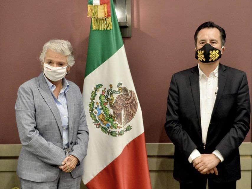 Sostiene Gobernador de Veracruz reunión con Olga Sánchez Cordero