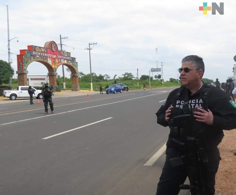 En Veracruz no pactamos con delincuentes, reitera SSP; mantiene operativos en zona sur