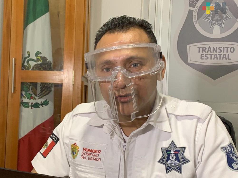 Tránsito de Coatzacoalcos realiza operativo de disuasión de arrancones en la ciudad
