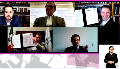 Firman INE y TEPJF convenio para la implementación del sistema del juicio en línea