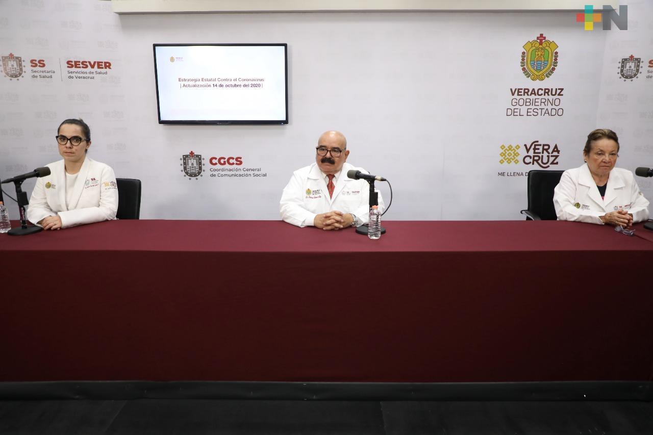 Se registran 11 defunciones por Covid-19 en Veracruz