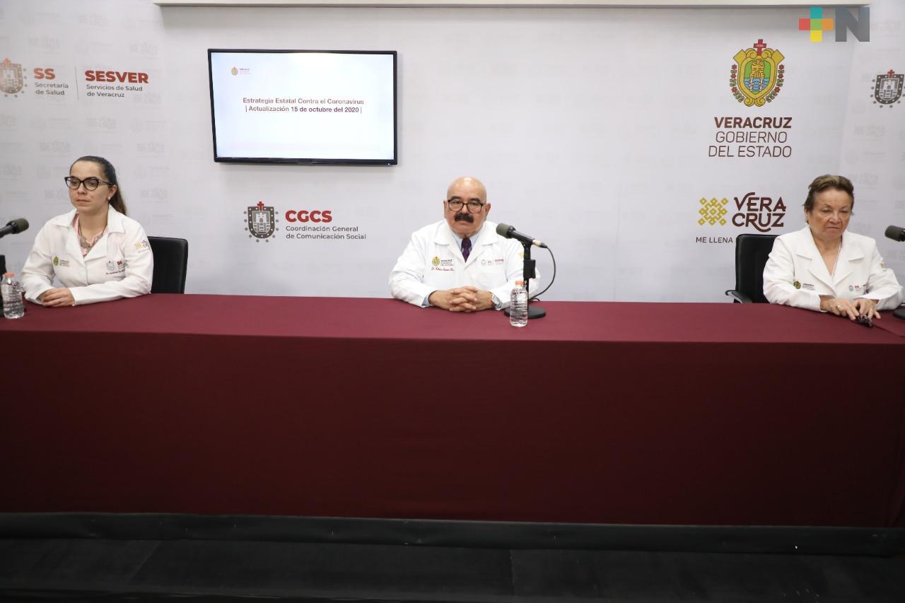 Hay 115 casos nuevos de Covid-19 en Veracruz