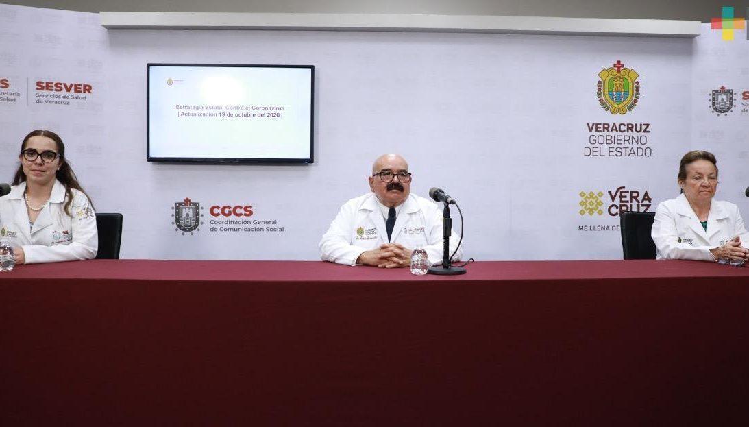 Hay 153 nuevos casos de Covid-19 en Veracruz
