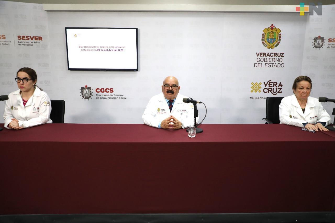 Hay 74 casos positivos de Covid-19 en Veracruz