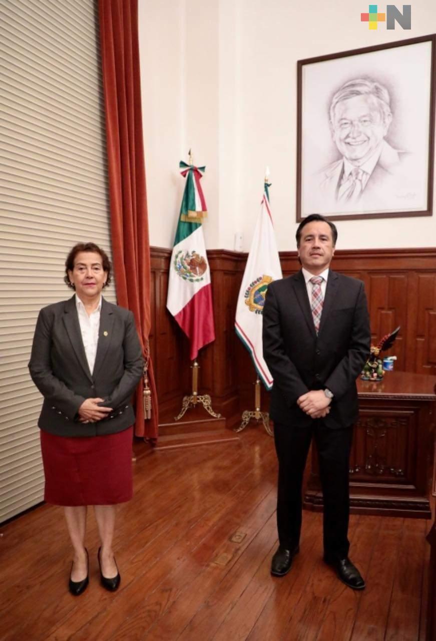 Cordinación y respeto reitera el Gobernador Cuitláhuac García al Poder Judicial del Estado