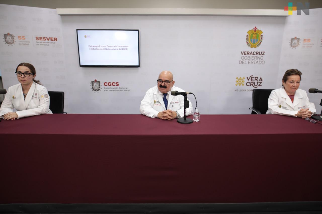 55 casos nuevos y 26 muertes por Covid-19 en Veracruz, reporta la Secretaría de Salud
