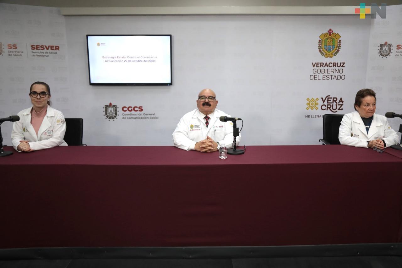 108 casos nuevos y 22 muertes por Covid-19 en Veracruz