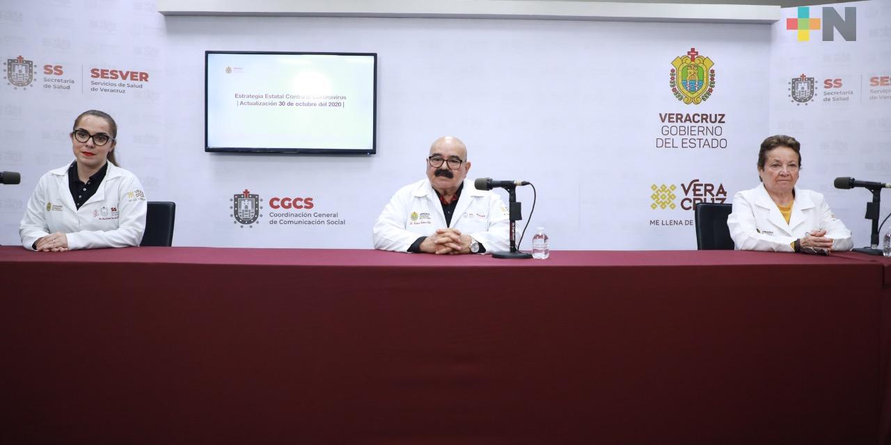 Registran 56 casos nuevos de Covid-19 en Veracruz